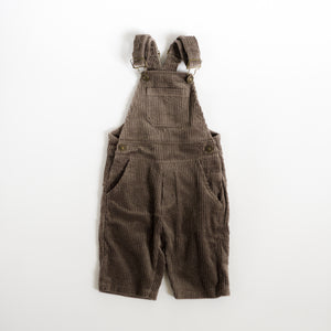 Retro Corduroy Overalls - Coffee