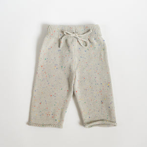 Sprinkled Straight Leg Knit Pants - Cloud