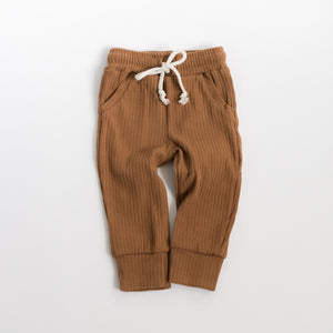 Ribbed Pocketed Pants - Walnut