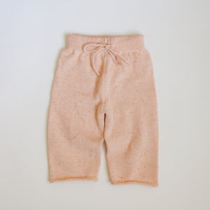 Sprinkled Straight Leg Knit Pants - Cotton Candy