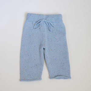 Sprinkled Straight Leg Knit Pants - Frosty