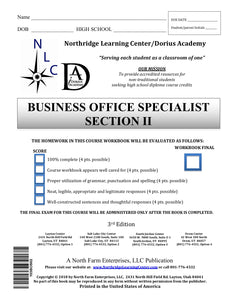 Business Office Specialist, Section II