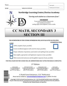 CC Math, Secondary 3, Section III