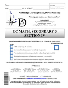 CC Math, Secondary 3, Section IV