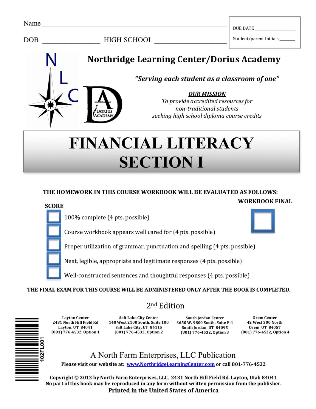 Financial Literacy, Section I