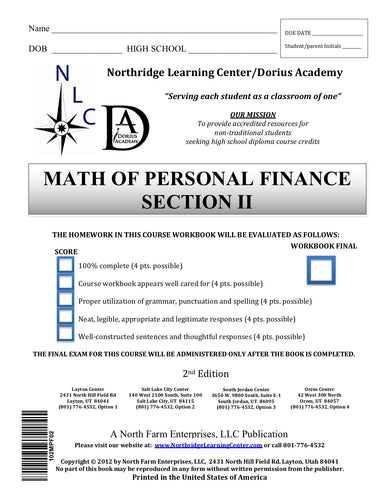 Math of Personal Finance, Section II