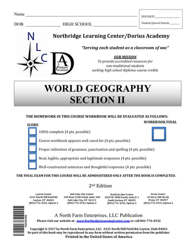 World Geography, Section II