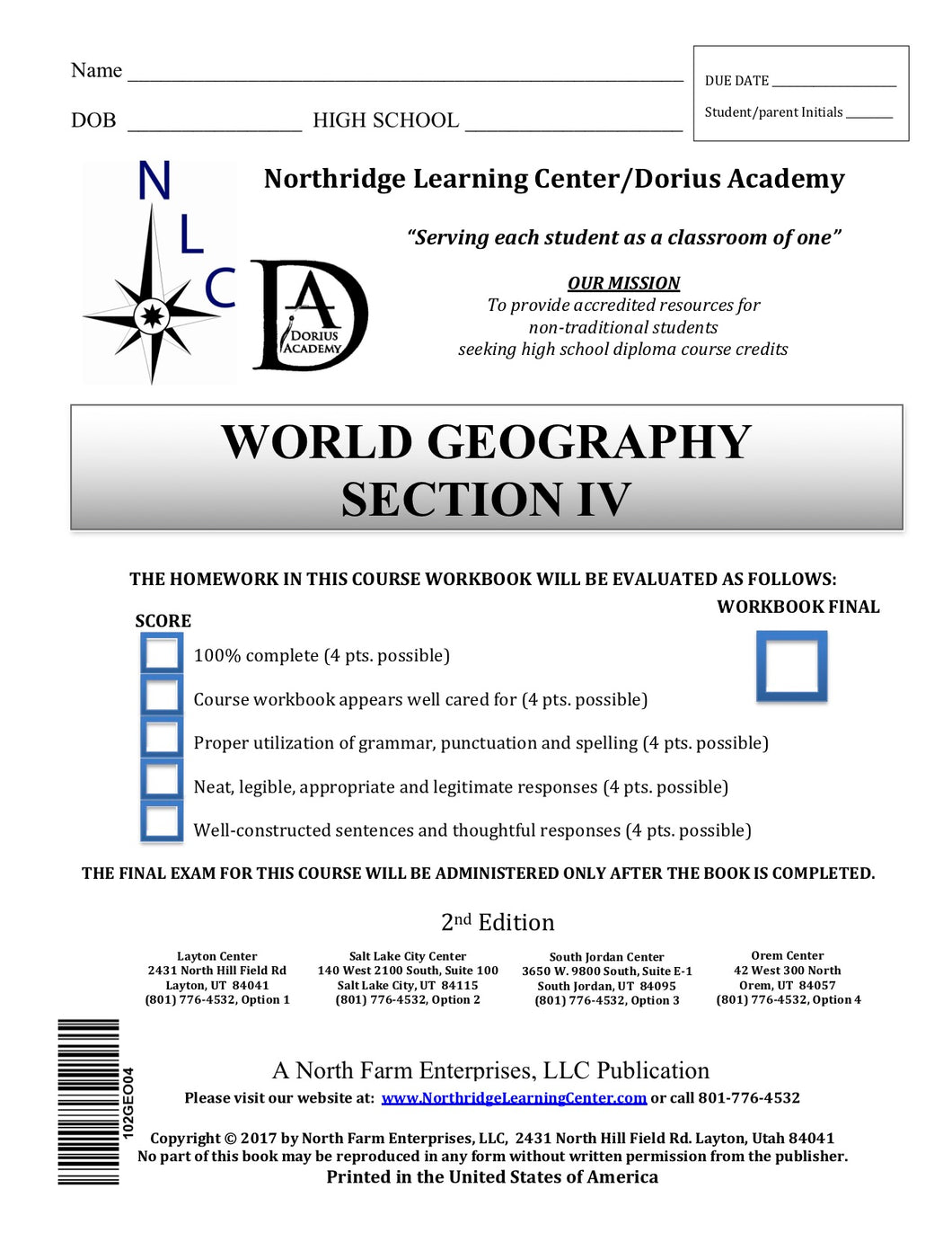 World Geography, Section IV