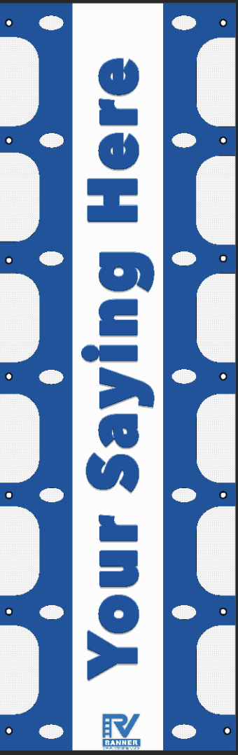 Personalized RV ladder banner