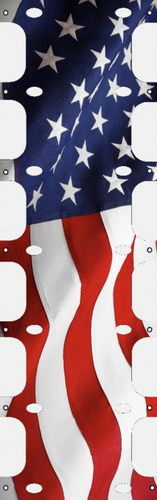 US Flag Ladder Banner