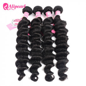 Alipearl Hair Loose Deep Wave Indian x 4 Bundles