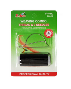 Eden Weaving Combo  Black Thread & 3 Needles