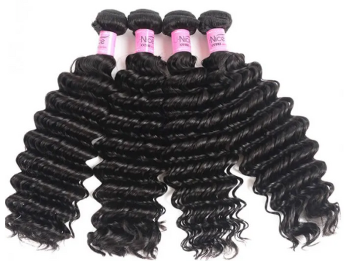 UNice Hair Deep Wave Brazilian x 4 Bundles