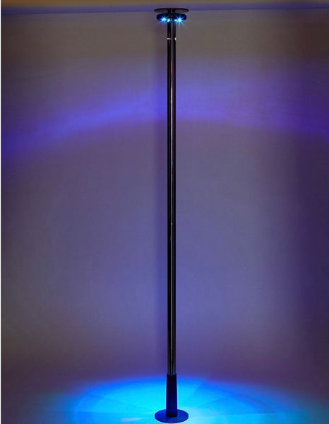 Spinning LED Light-Up Stripper Pole