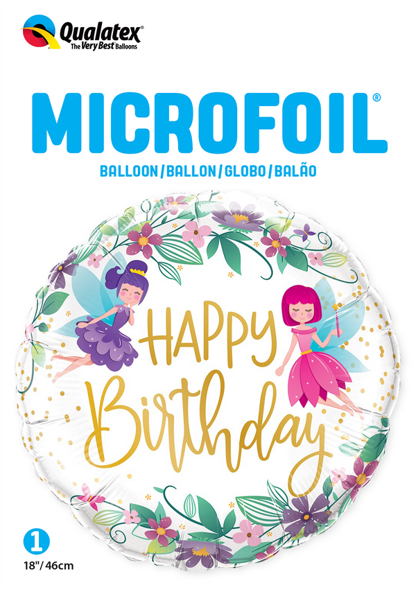 Birthday Wild Flower Fairies Foil Balloon | Helium Is Included |.