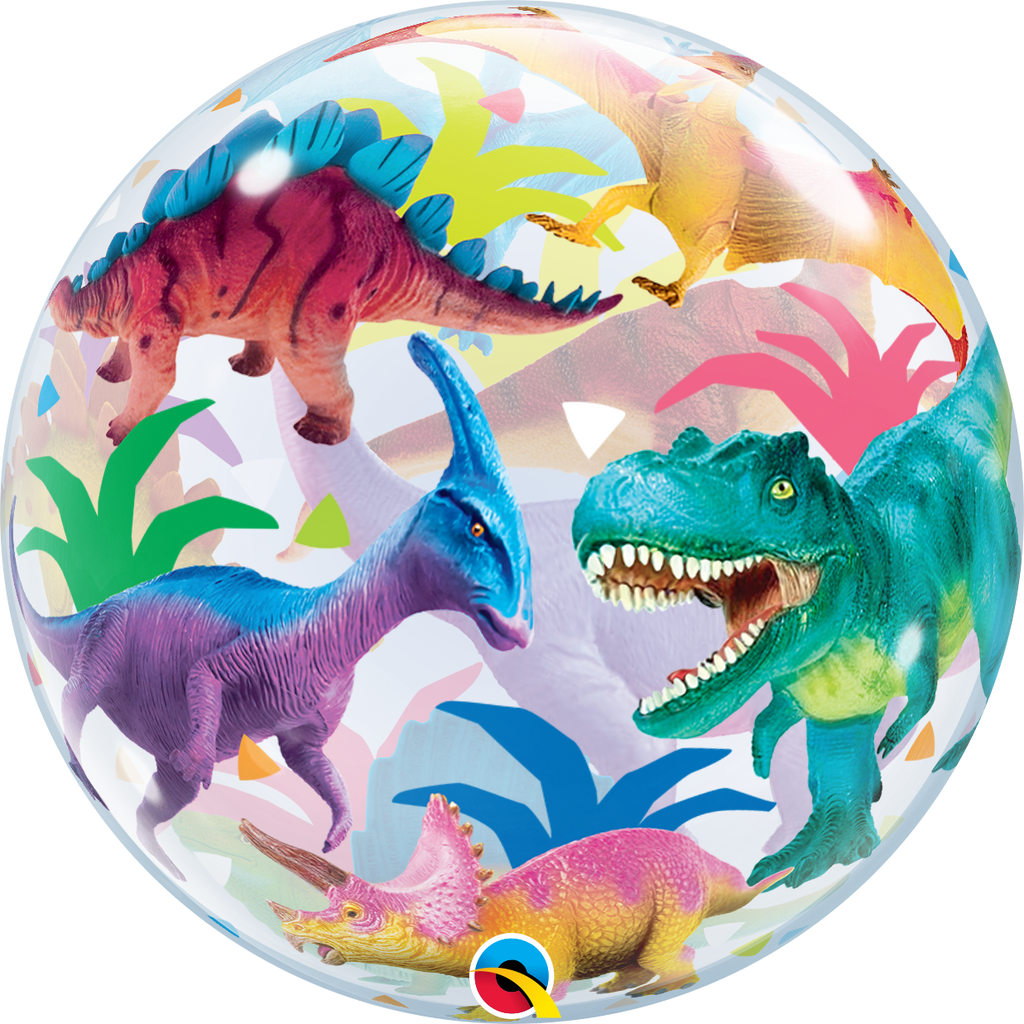 Colorful Dinosaurs Bubble Balloon