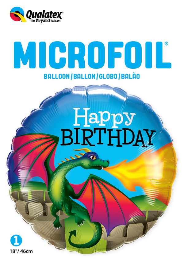 Birthday Mythical Dragon Foil Balloon | Helium Is Included |.