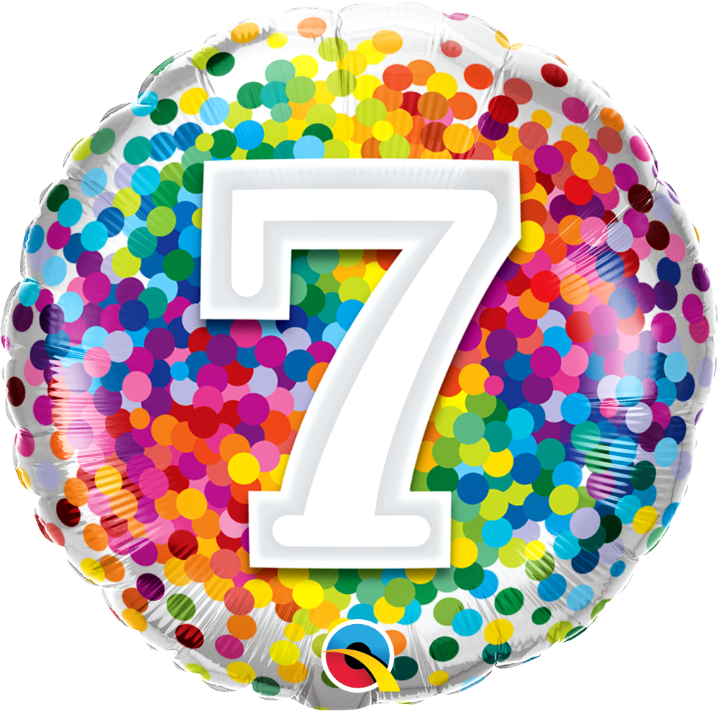 7 Rainbow Confetti Foil Balloon | Helium Is Included |.