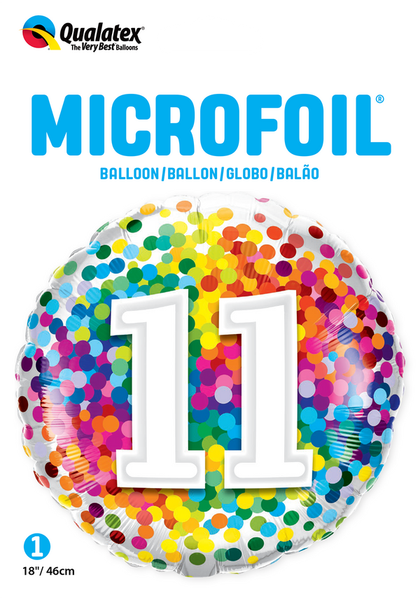 11 Rainbow Confetti Foil Balloon | Helium Is Included |.