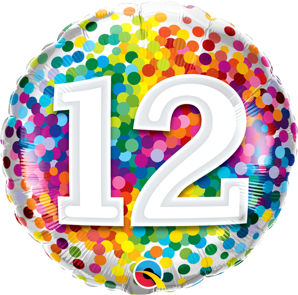 12 Rainbow Confetti Foil Balloon | Helium Is Included |.