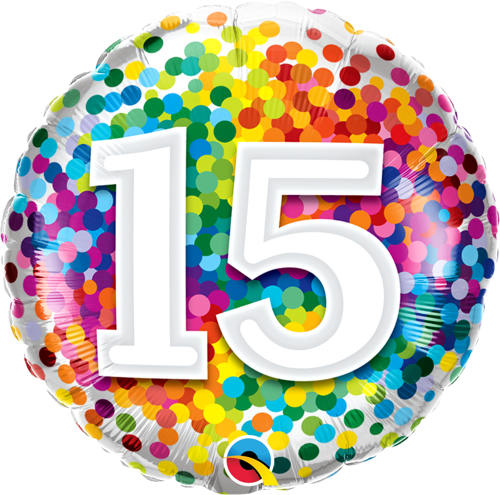 15 Rainbow Confetti Foil Balloon | Helium Is Included |.