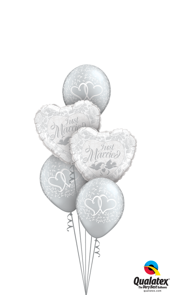 Just Married Hearts Bouquet