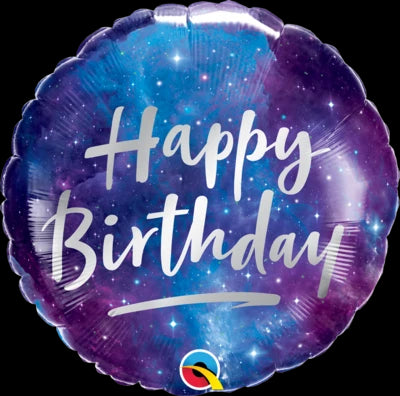 Birthday Galaxy Foil Balloon | Helium Is Included |.