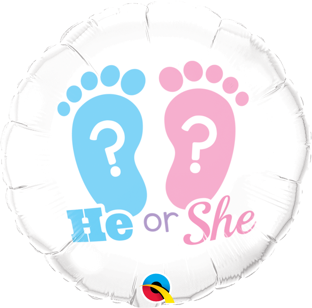 He Or She? Footprints Foil Balloon | Helium Is Included |.