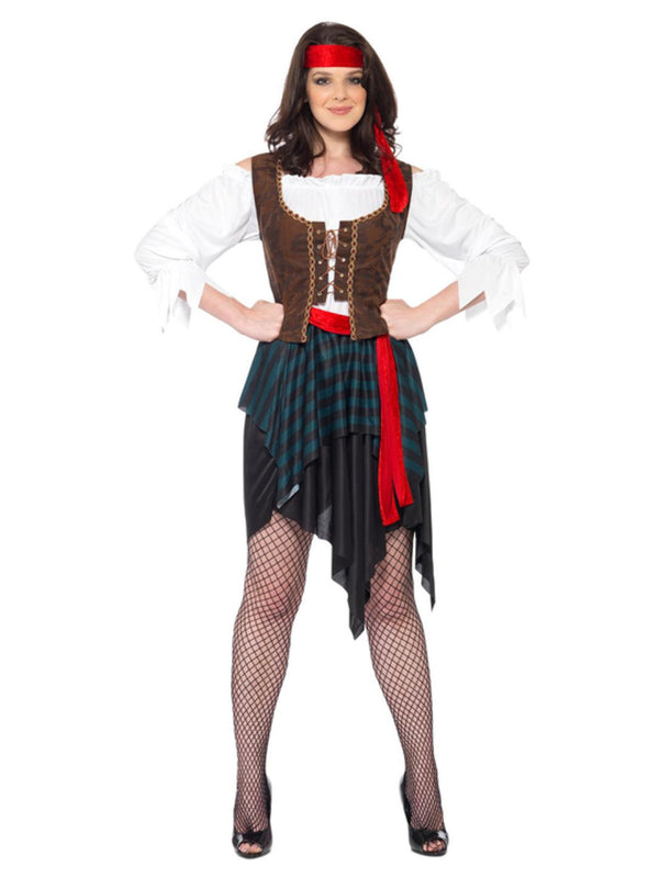 Pirate Lady Costume, Brown