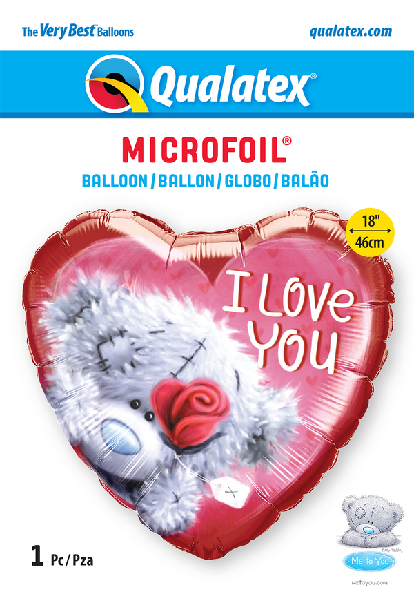 Me To You - Tatty Teddy I Love You Foil Balloon | Helium Is Included |.