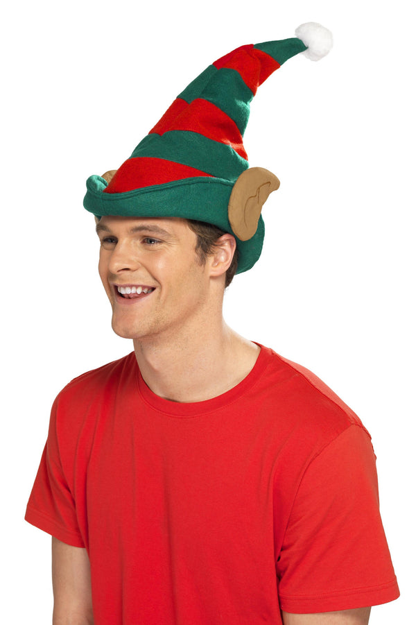 Elf Hat, Red & Green