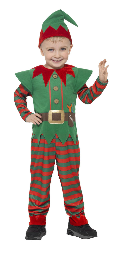 Elf Toddler Costume, Red & Green