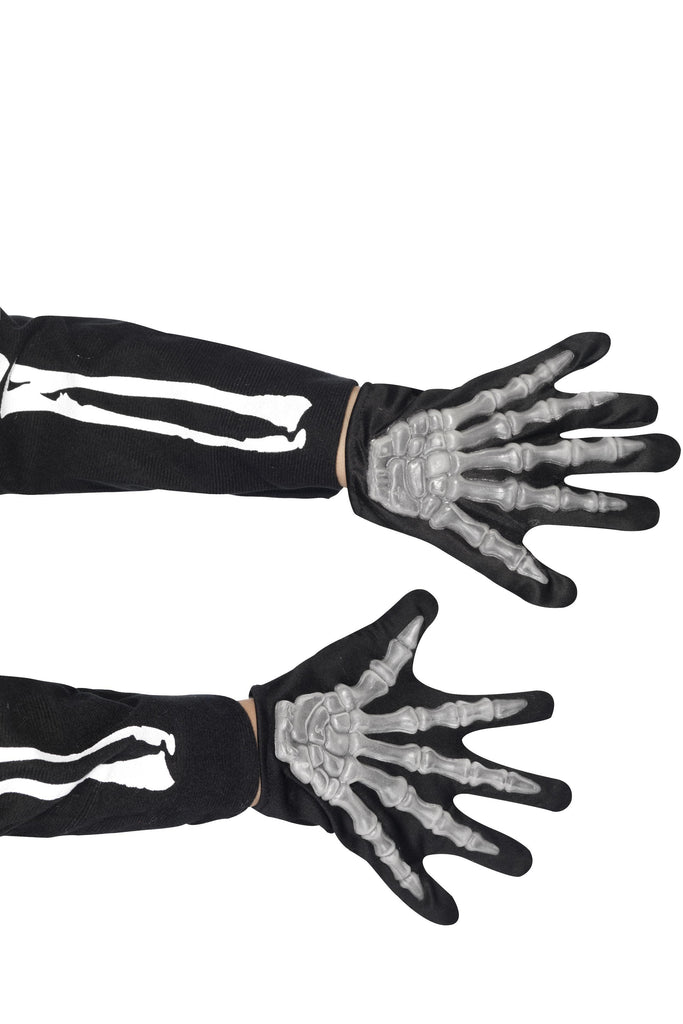 Skeleton Gloves, Child, Black