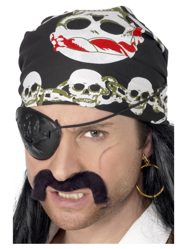 Pirate Bandana, with Skull and Crossbones Print