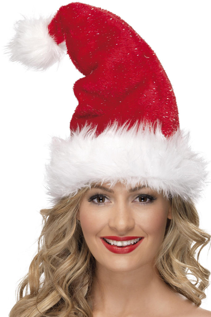 Santa Hat, with Tinsel