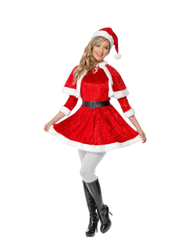 Miss Santa Costume, with Cape & Belt