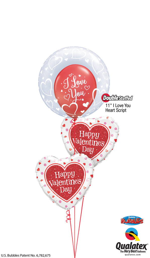 """I Love You"" Valentine's Bubble Bouquet"