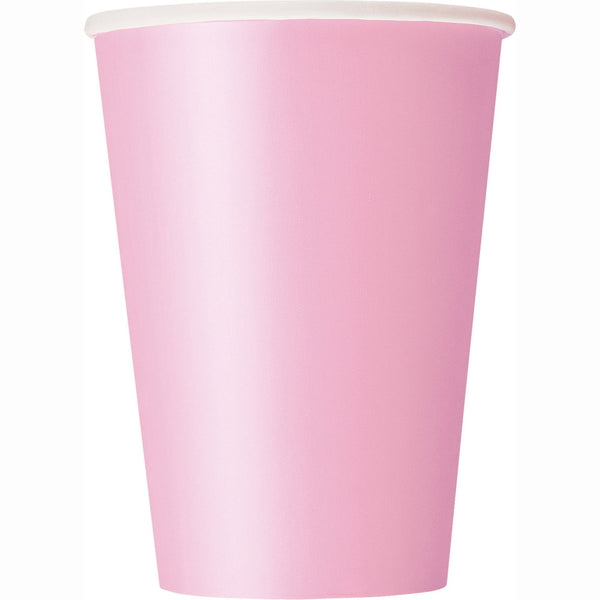 Lovely Pink 12oz Paper Cups - Pack Of 10