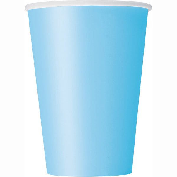 Powder Blue 12oz Paper Cups - Pack Of 10