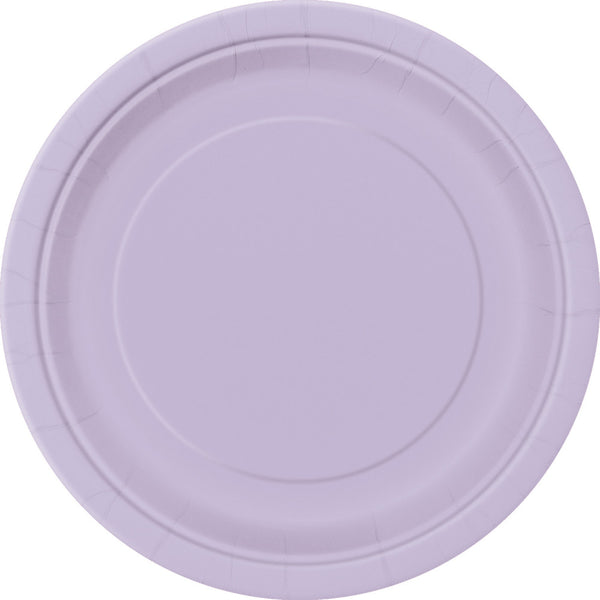"Lavender Round 9"" Dinner Paper Plates - Pack Of 16"