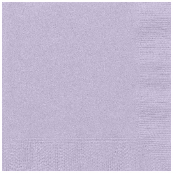 Lavender Beverage Napkins - Pack of 20