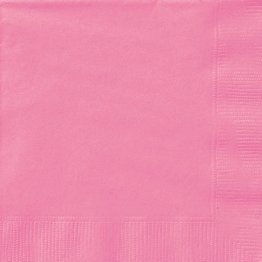 Hot Pink Beverage Napkins - Pack of 20