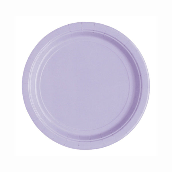 "Lavender Round 7"" Dessert Paper Plates - Pack Of 20"