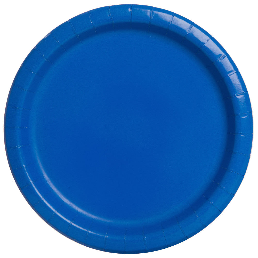 "Blue Round 7"" Dessert Paper Plates - Pack Of 20"
