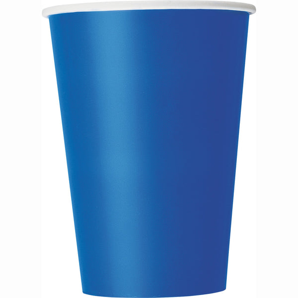 Blue 12oz Paper Cups - Pack Of 10