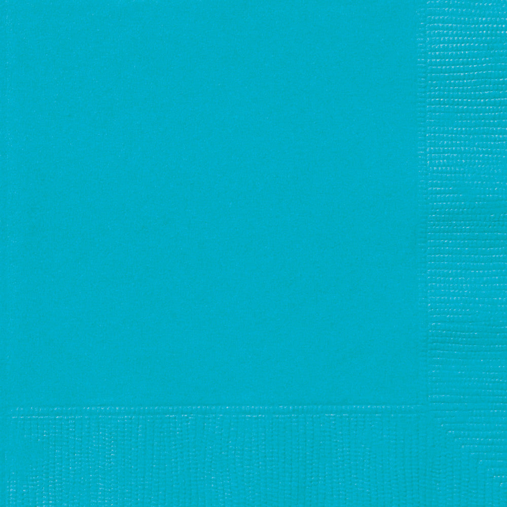 Teal Beverage Napkins - Pack of 20