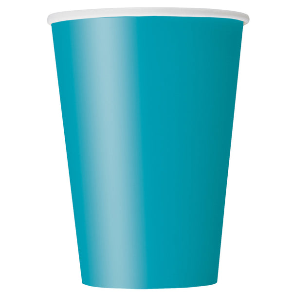 Teal 12oz Paper Cups - Pack Of 10