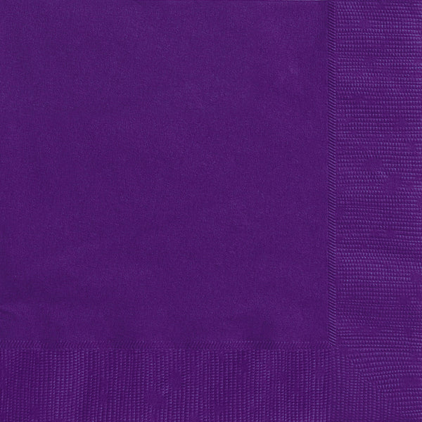 Deep Purple Beverage Napkins - Pack of 20