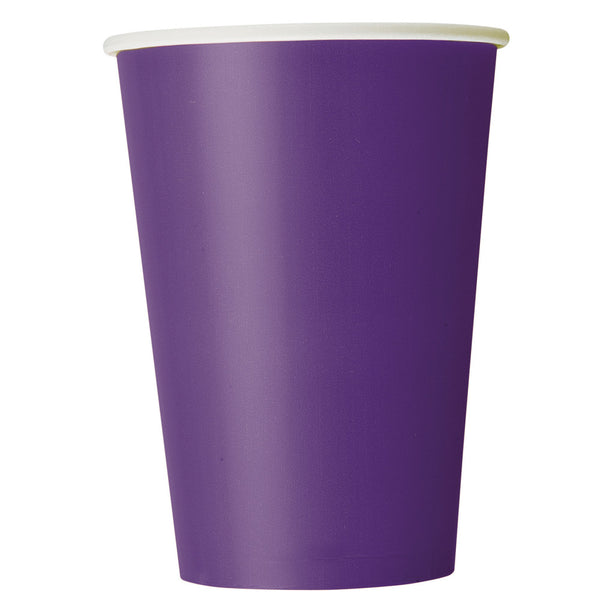 Deep Purple 12oz Paper Cups - Pack Of 10