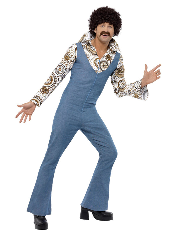 GROOVY DANCER COSTUME, BLUE WITH JUMPSUIT